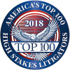 Top 100 High Stakes Litigators 2018 | The LIDJI Law Firm | Personal Injury Attorney | Dallas Houston Texas